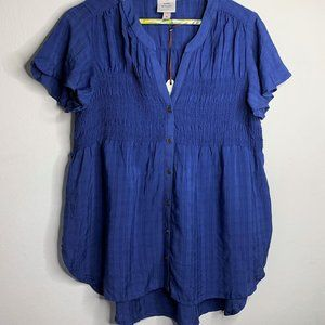 Knox Rose Shirt Blouse Blue